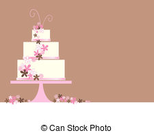 Wedding Cake clipart tiered cake Abstract  cake an Wedding