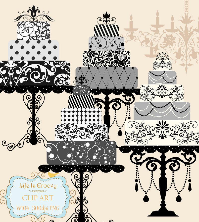 Wedding Cake clipart tiered cake 4 large of elegant multi