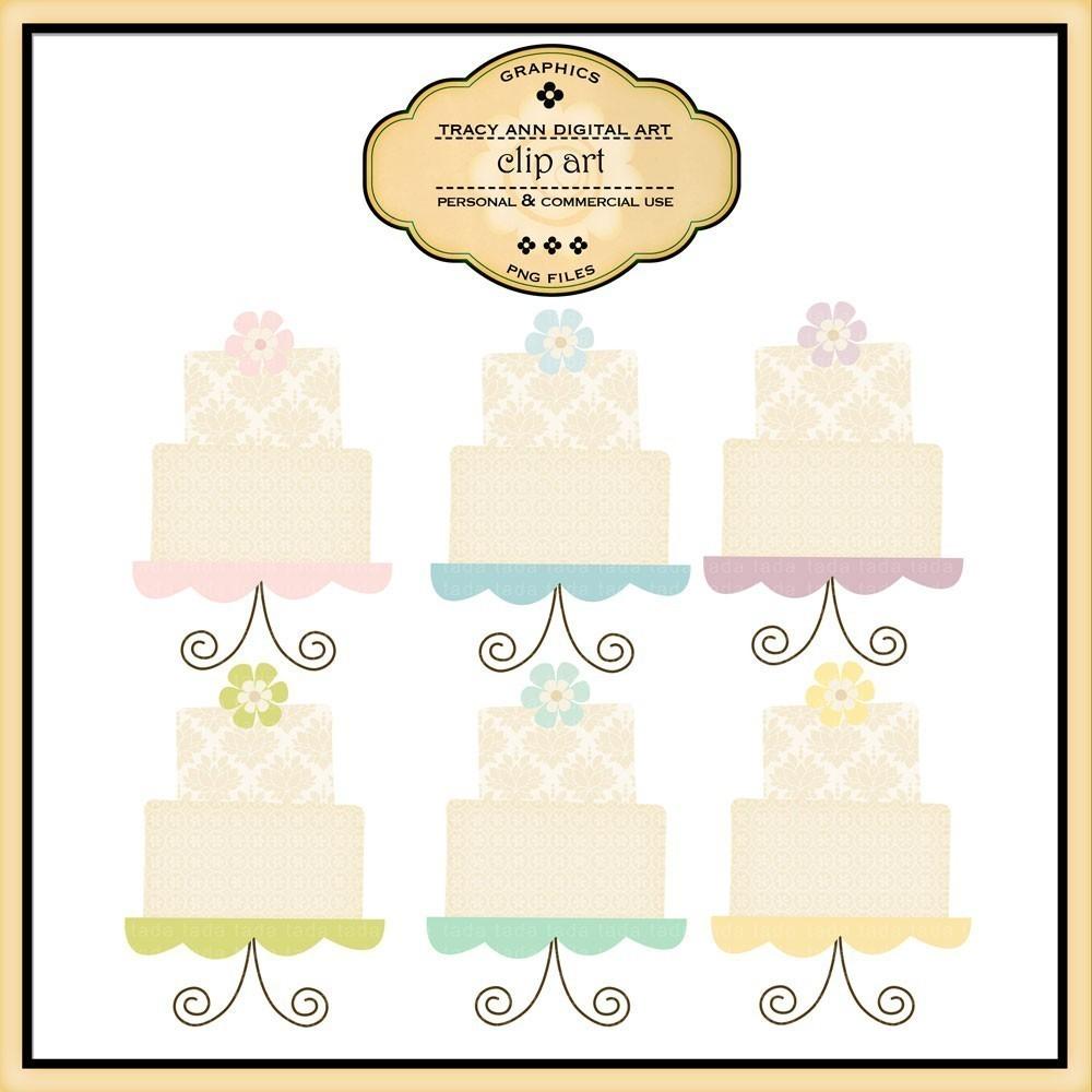 Wedding Cake clipart vintage cake Klejonka art Clipart Cake Vintage