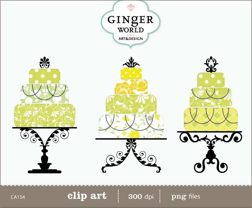 Wedding Cake clipart vintage cake Sunshine art digital art clip