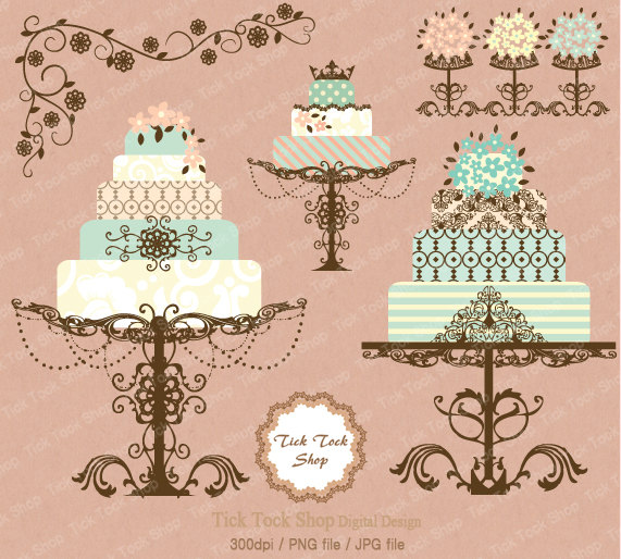 Wedding Cake clipart vintage cake Cake art clip cake Vintage