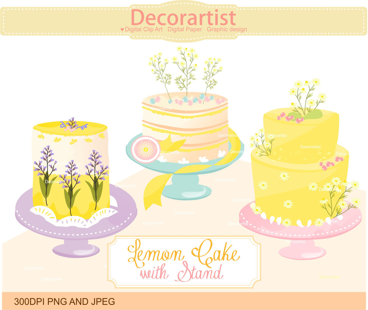 Wedding Cake clipart yellow Is a SALE Cake clipart