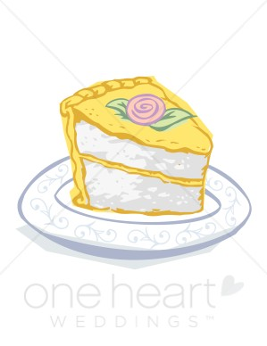Wedding Cake clipart yellow Slice Clipart Wedding Clipart Cake