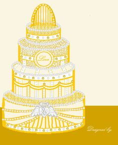 Wedding Cake clipart yellow And Gold MS Cake Occasions