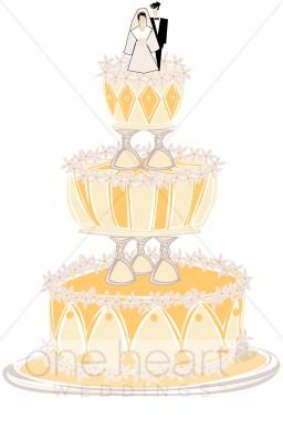 Wedding Cake clipart yellow Wedding Cake Cake Wedding Clipart