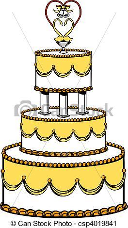 Wedding Cake clipart yellow Illustration Wedding Wedding Illustration Wedding