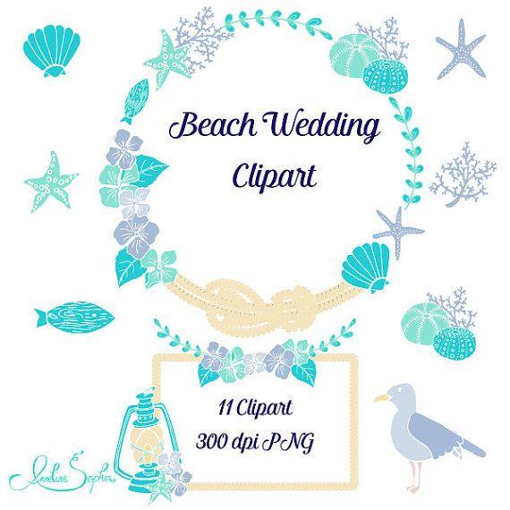 Wedding clipart beach Etsy on Wedding on Wedding