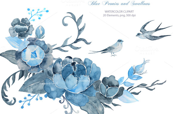 Wedding clipart blue Wedding Clipart Blue and Blue