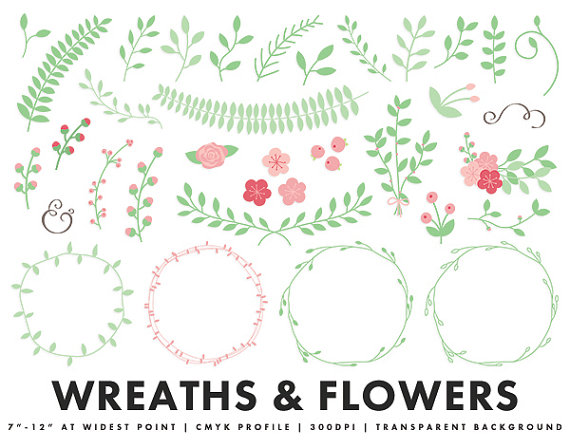 Leaves clipart wedding #1