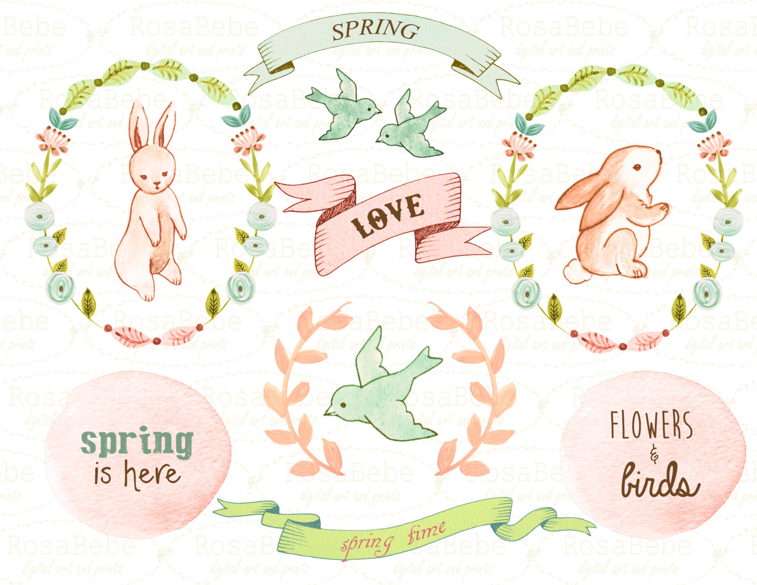 Wedding clipart bunny Easter clipart baby clipart shower