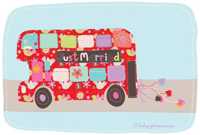Wedding clipart bus Wedding London bus Grainger Lesley