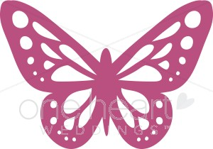 Simple clipart butterfly #1