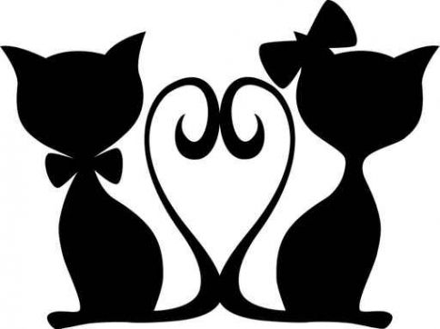 Cat clipart wedding Images love Pinterest cats on