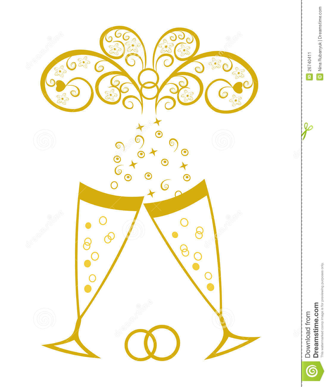 Wedding clipart champagne Toast Art collection Clipart glasses