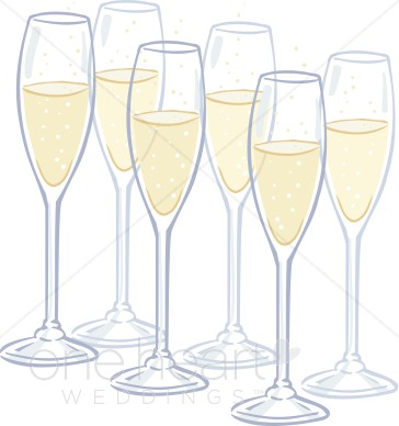 Wedding clipart champagne Flutes Champagne Flutes Drinks Champagne