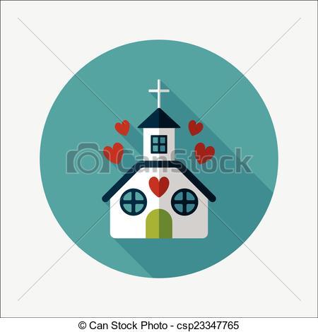 Wedding clipart church Clip Vector icon flat Day