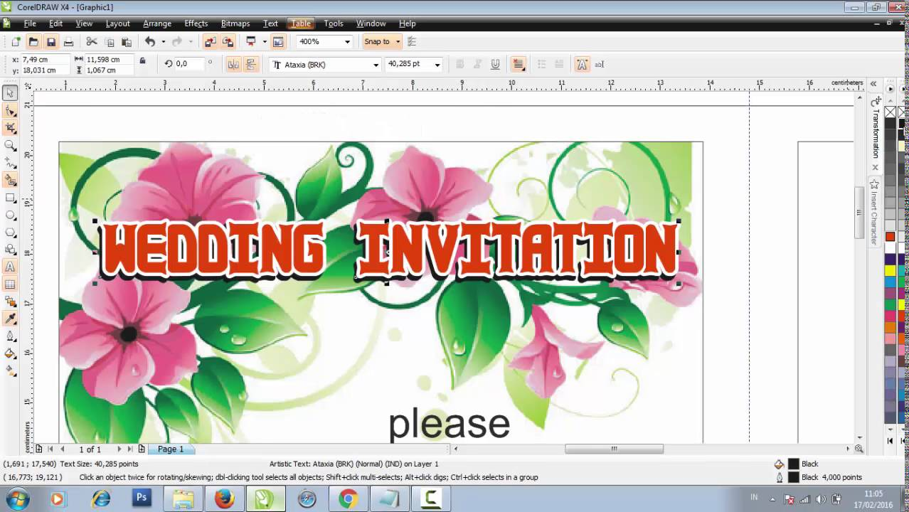 Wedding clipart coreldraw CORELDRAW Design Wedding IN YouTube