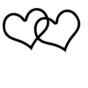 Hearts clipart double heart Double heart Clip Collection Outline