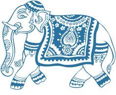 Wedding clipart elephant Elephant appearance reception drawn tribal