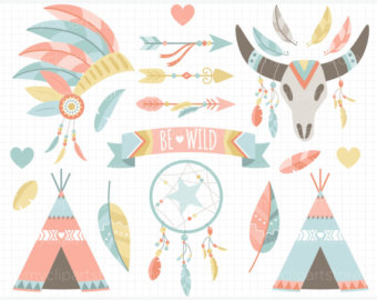 Wedding clipart fishing Tribal Indian / / Day