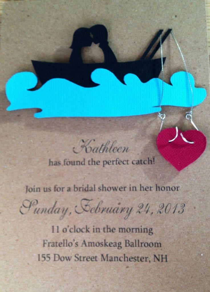 Wedding clipart fishing Invitation bridal Fishing wedding Fishing