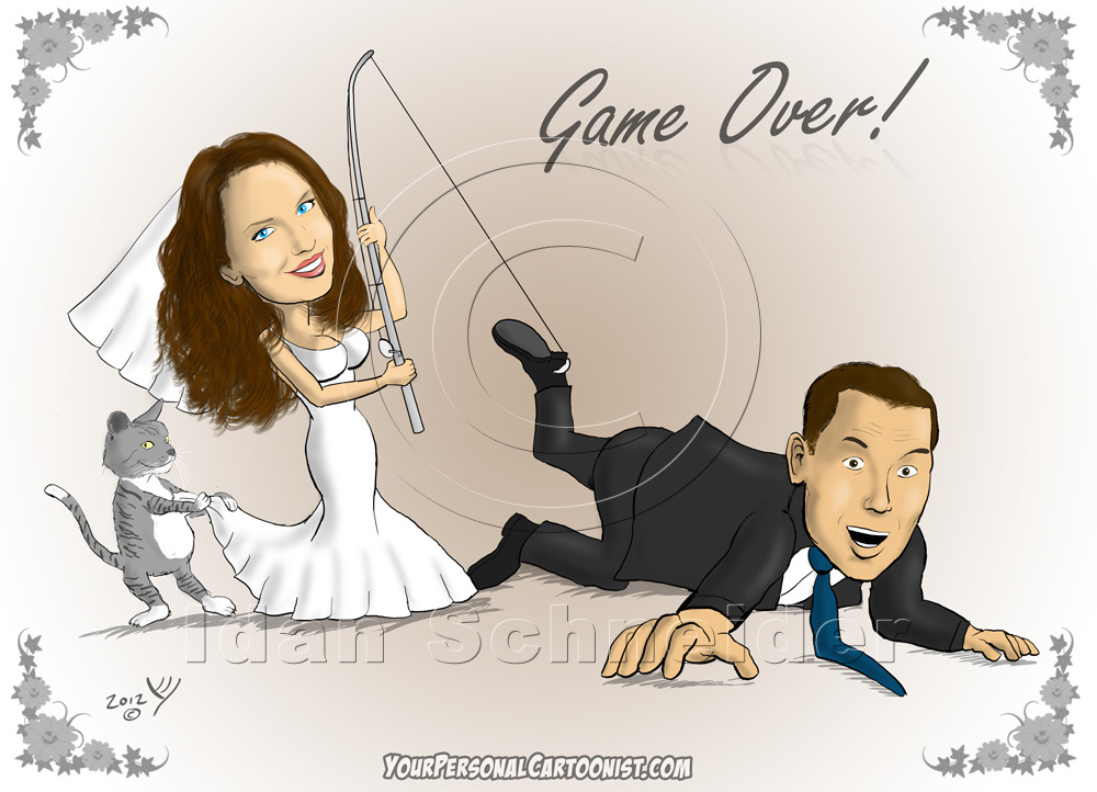 Wedding clipart fishing Your Wedding Caricatures Invitations Wedding