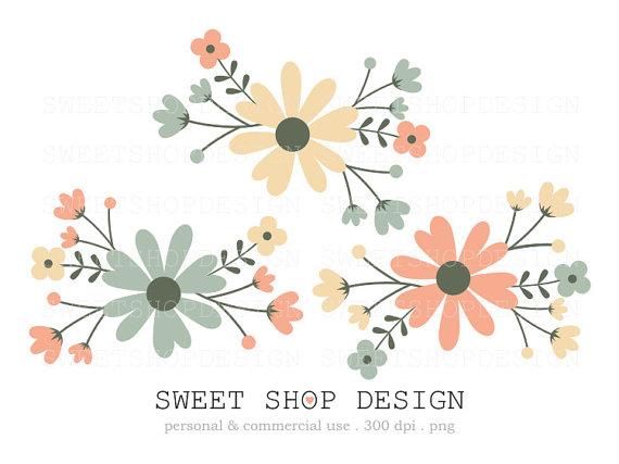 Rustic clipart wedding floral Art clip in Hydrangea Clip
