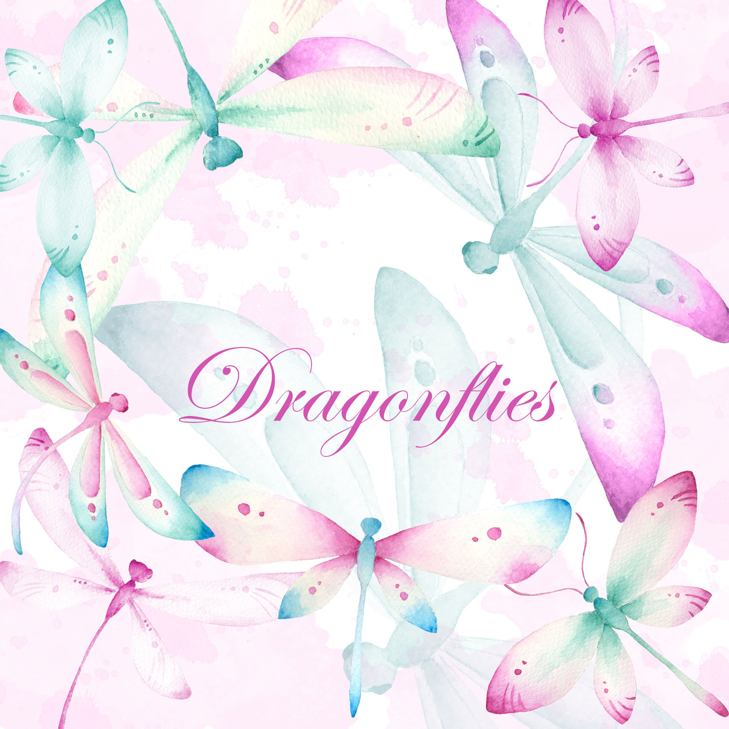 Wedding clipart frog Clip Wedding dragonfly watercolor Dragonfly