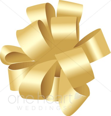 Wedding clipart gold The Wedding Bow Gold Wedding