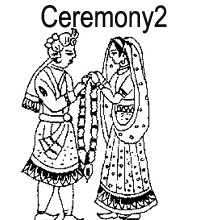 Black & White clipart indian wedding Hindu card Cards Wedding ceremony
