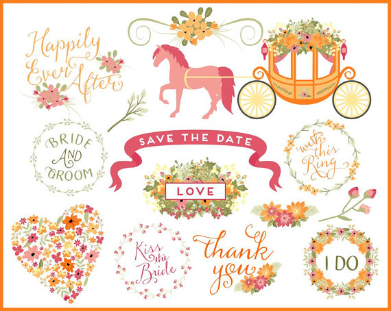 Wedding clipart horse And Carriage Art Spring Wedding