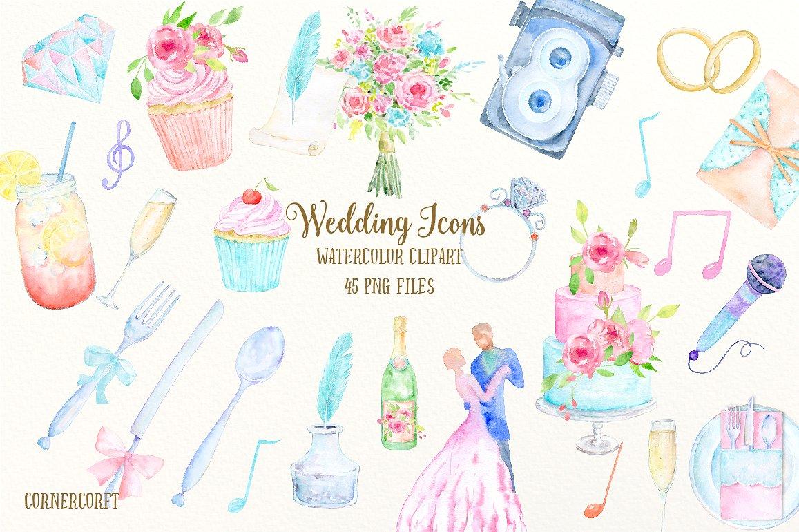 Wedding clipart icon Templates Wedding Wedding Watercolor icon