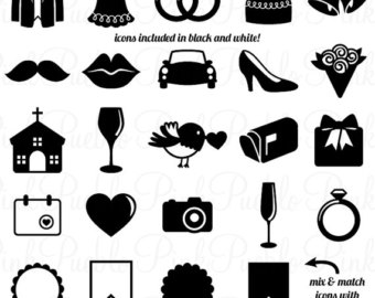 Wedding clipart icon White Clip Vintage Clipart Art