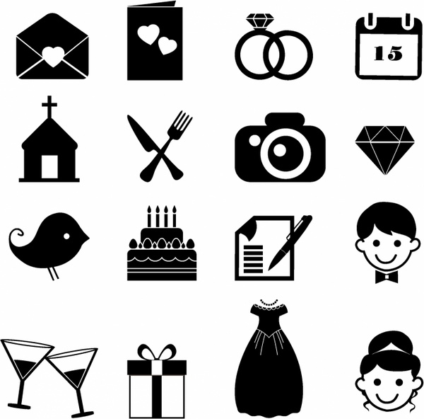 Wedding clipart icon Commercial vector Wedding Wedding download