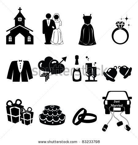 Wedding clipart icon Images AcaG silhouette Wedding via