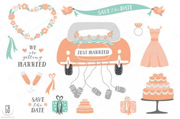 Wedding clipart just married Art art clip Just wedding