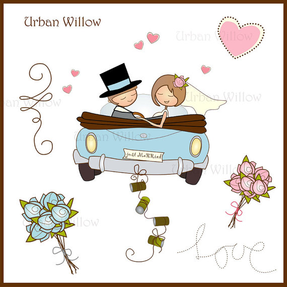Wedding clipart just married Clipart Hipster Clipart Bicycle Wedding