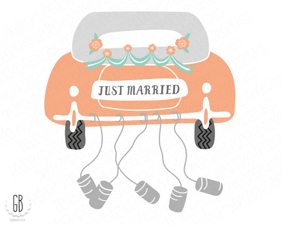 Wedding clipart just married Clip Wedding cake file married