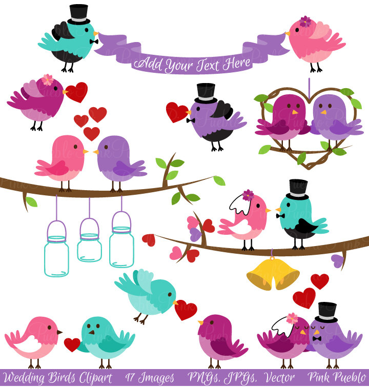 Brds clipart valentine Art Birds Clip and Clip