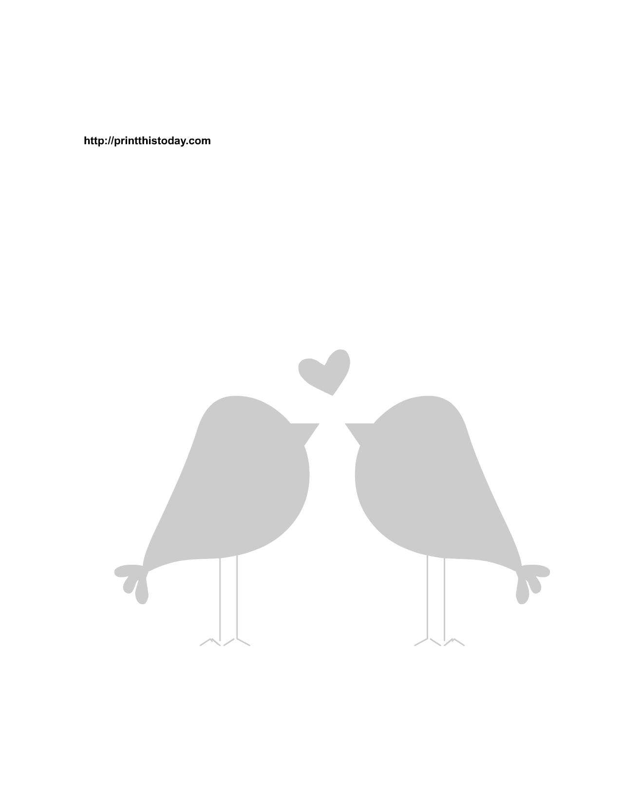 Brds clipart template 3 template #38122 birds Love