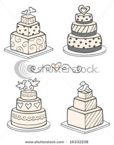 Wedding clipart modern Picture: Wedding Picture: Cakes Cakes