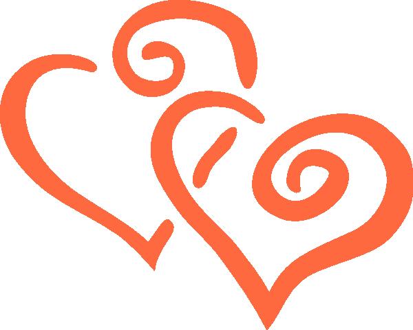 Hearts clipart double heart Wedding  wedding heart Wedding