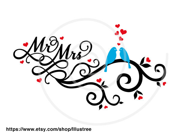 Wedding clipart our Mrs the  and Wedding