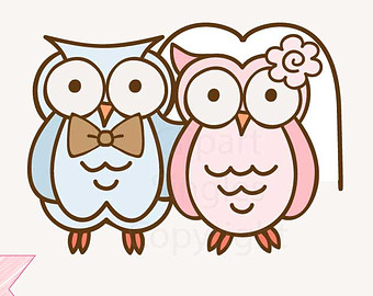 Wedding clipart owls Art Clipart owls Wedding (22+)