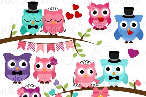 Wedding clipart owls Clipart ~ Wedding on Vectors