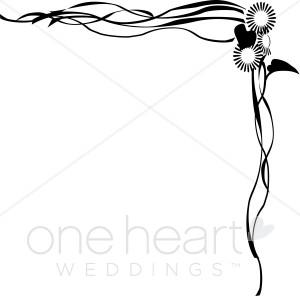 Bald Eagle clipart face Flowering Wedding Border Borders Trailing