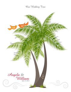 Wedding clipart palm tree Love Personalized Shower tree Book
