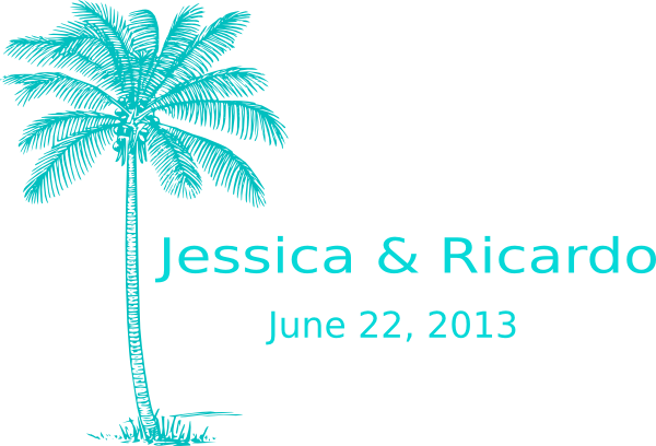 Wedding clipart palm tree At Clip this Personalized Download