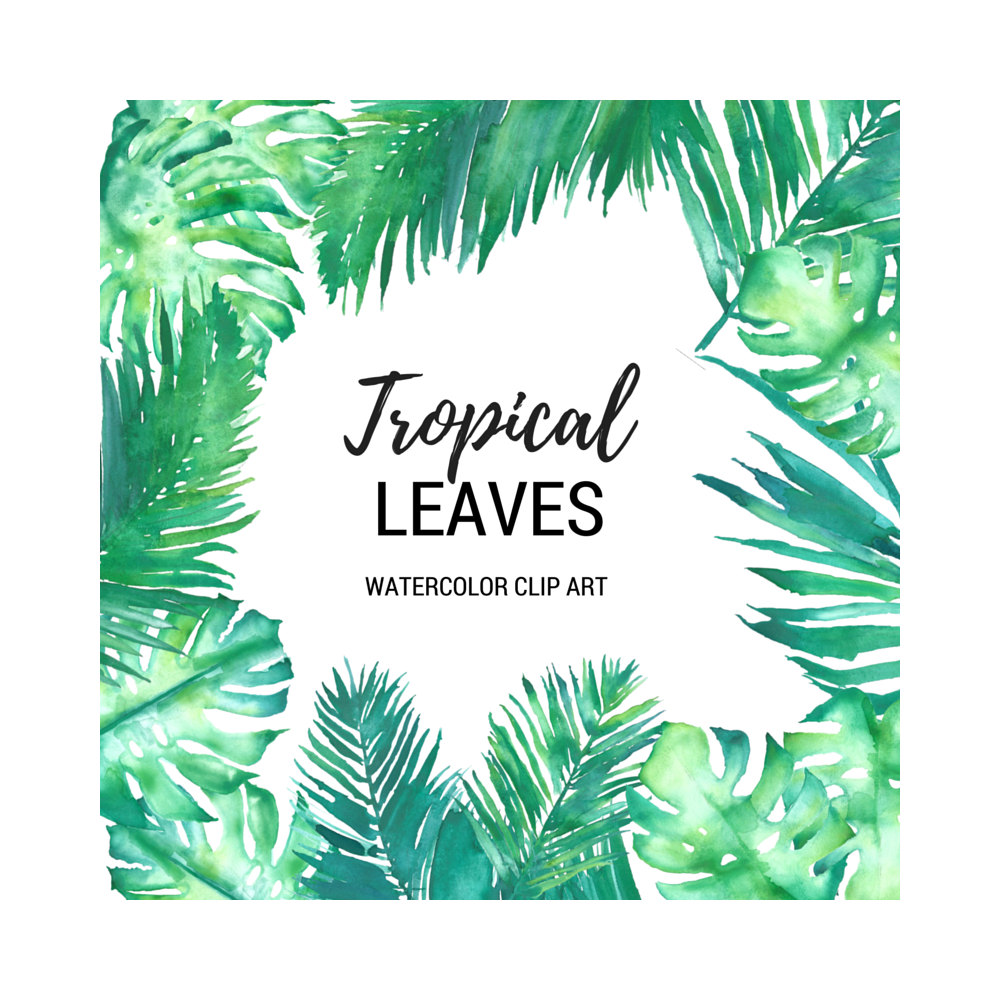 Wedding clipart palm tree Fronds Palm Leaves Art Tropical