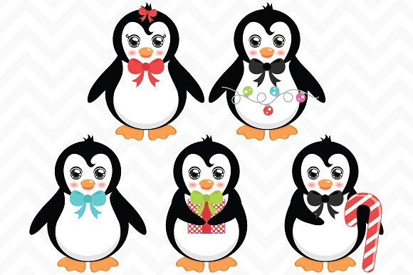 Wedding clipart penguin ~ Christmas Illustrations on Illustrations